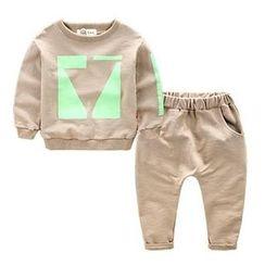 Kido - 儿童套装: 印花套衫 + 长裤