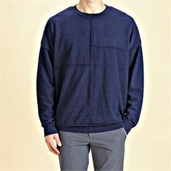 THE COVER - Round-Neck Seam-Detail Pullover