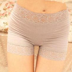 Angel Love - Lace-Trim Boy Shorts