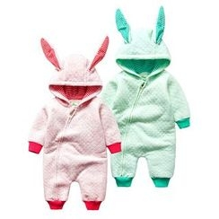 MOM Kiss - Baby Hooded One Piece