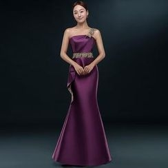 Royal Style - Off-Shoulder Mermaid Evening Gown