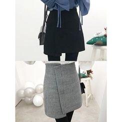 hellopeco - Asymmetric-Hem Skirt