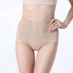 KAZA - 蕾絲拼接塑身內褲