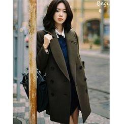 MAVIS - 雙排扣羊毛混紡大衣