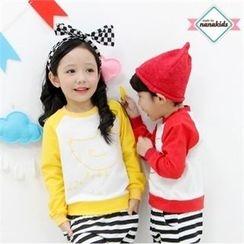 nanakids - Kids Contrast Raglan-Sleeve Printed Sweatshirt