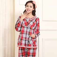 Kream - Pajama Set: Nursery Top + Plaid Pants