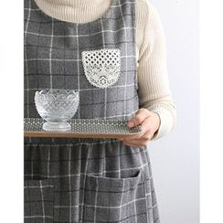 iswas - Lace Pocket Check Apron