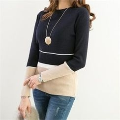 PEPER - Color-Block Knit Top