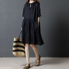 EFO - Short-Sleeve Loose-Fit Dress
