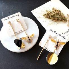 Rosebush - Insect Non-Matching Earrings