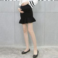 Mapple - Ruffle-Hem Maternity Skirt