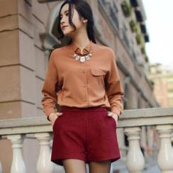 Halona - Long-Sleeve Chiffon Shirt