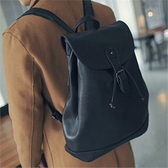 MITOSHOP - Faux-Leather Backpack