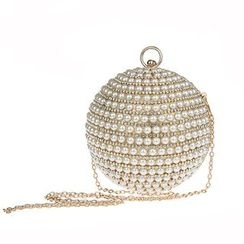 Glam Cham - Faux Pearl Ball Crossbody Bag
