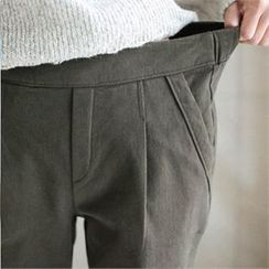 YOOM - Brushed Fleece Band-Waist Pants