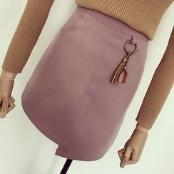 Honeydew - A-Line Skirt with Tassels