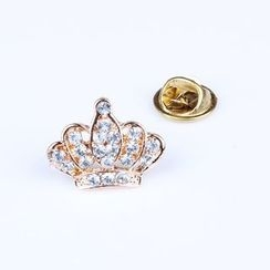 Chidori - Rhinestone Crown Brooch