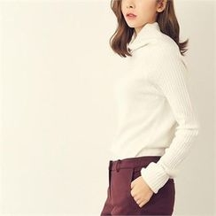 MAGJAY - Wool Blend Turtle-Neck Knit Top