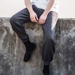 Ashen - 中国风直筒束腿裤