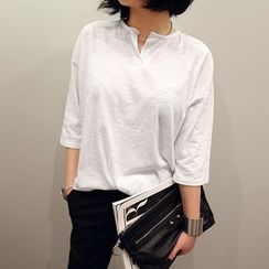 NANING9 - 3/4-Sleeve Placket Top