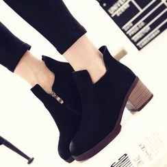Laceuplux - Chunky Heel Ankle Boots