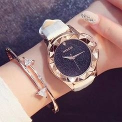 Nanazi Jewelry - Faux Leather Strap Watch