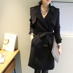 NANING9 - Flap Trench Coat