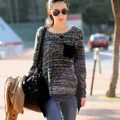 SO Central - Two-Tone Bouclé Sweater