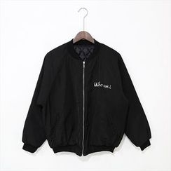 Mr. Cai - Embroidered Zip Jacket
