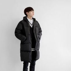 Seoul Homme - Padded Zip-Up Hoodie Parka