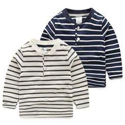 Seashells Kids - Kids Striped Long-Sleeve Henley