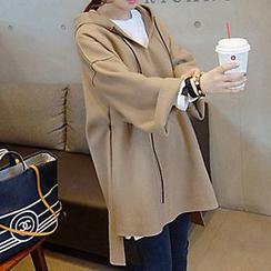 Fashion Street - 純色長尾連帽衫