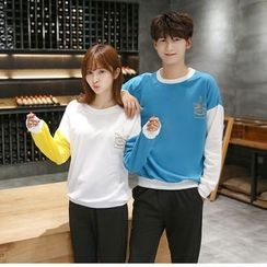 CASSY - Printed Couple Matching Pullover / Pants