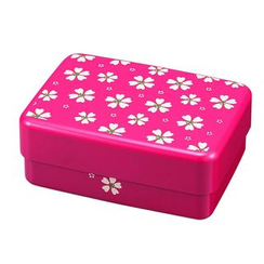 Hakoya - Hakoya Rectangular Picnic Lunch Box Red Sakura
