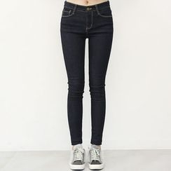 DANI LOVE - Stitched Brushed-Fleece Lined Skinny Jeans