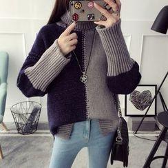 Qimi - 插色厚毛衣