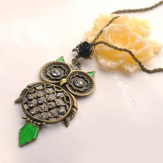 Fit-to-Kill - Rose Owl Necklace