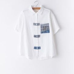 Rosadame - Panel Short Sleeve Shirt