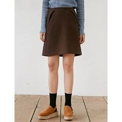 FROMBEGINNING - A-Line Mini Skirt