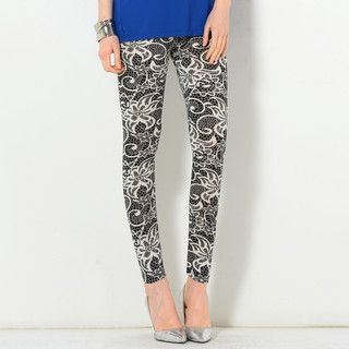 YesStyle Z - Lace Print Leggings