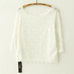 Meimei - 3/4-Sleeve Lace Top