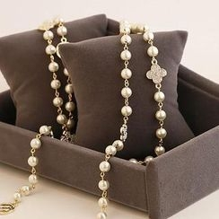 Love Generation - Faux Pearl Layered Necklace