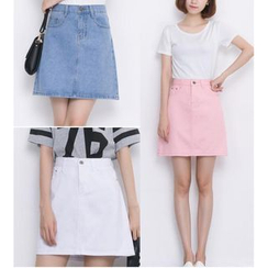 HazyDazy - A-Line Denim Skirt