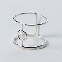 A'ROCH - 925 Sterling Silver Layered Open Ring