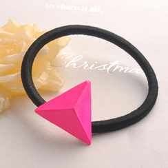 Fit-to-Kill - Pink Triangle Hair Barrette - Fuchsia