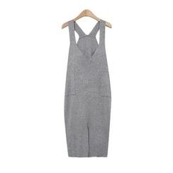 GUMZZI - Knit Sleeveless Jumper Skirt