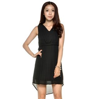 YesStyle Z - V-Neck Dip-Back Chiffon Dress