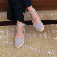 DANI LOVE - Ankle-Strap Espadrille Platform Shoes