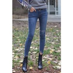 PPGIRL - Frey-Hem Skinny Jeans