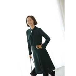 Lemite - Long-Sleeve A-Line Dress